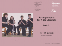 Arrangements for 4 Bb Clarinets Book 2